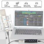 Alctron XU-2 Convertisseur audio numérique XLR vers micro USB, interface audio pour ordinateur, convertisseur audio numérique avec alimentation
