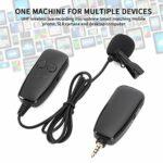 Ccylez Microphone Cravate sans Fil à Revers, Microphone sans Fil UHF Rechargeable Portable, portée de 164 Pieds, câble Adaptateur typeC, Micro à Pince pour Enregistrement, vlog, Interview