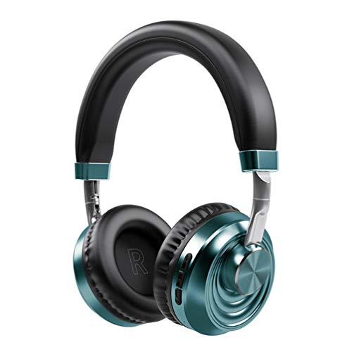 DengDD Écouteurs Pliants Rétractables Bluetooth sans Fil Bluetooth 5.0 Casque Mega Bass Musique Écouteurs Hi-FI Stéréo Bluetooth, Films, Appels,Bleu