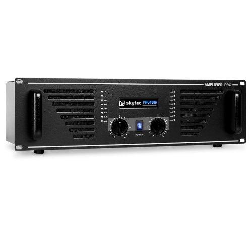 Skytec AMP-1000 Ampli DJ PA Sono MOSFET Rack 48cm 2U 1600W