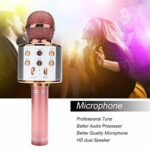 TIUENHAVU Microphone Portable Bluetooth Karaoke Microphone sans Fil Haut-Parleur Professionnel Accueil KTV Microphone de Poche Microphoneblue