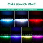 UKing LED Wall Wash Lampe 24LED 72W Lumières de Scène RGB Effet de Lumiere Bar avec Télécommande et Contrôle Sonore DMX Activé pour DJ Fete Éclairage Effets
