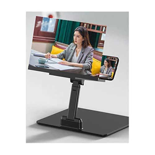 Écran Loupe Réglable pour Téléphone Portable, Loupe D'écran pour Smartphone HD Grand écran 2 en 1 Grand écran Anti-Bleu Support D'amplificateur Anti-rayonnement Extensions Vidéo