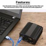 jingshou396 Alimentation fantôme 48 V alimentée par Prise USB, pour Tout équipement d'enregistrement de Musique avec Microphone à condensateur