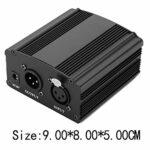 Microphone à condensateur Câble USB Kit de microphone d'enregistrement Micro PC avec alimentation fantôme 48 V(Réglementations européennes)