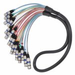 Câble de serpent XLR rallonge légère connecteur de cordon audio tête équilibrée durable pour un usage professionnel pour adultes(blue, 1.5 fans)