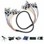 Ligne multi-signaux de connecteur de cordon Audio d'extension de tête équilibrée pratique 8 canaux pour adultes(blue, 1.5 fans)