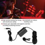 Réduisez la gestion du bruit Microphone Lavalier léger Clip universel sur micro avec des matériaux haut de gamme pour téléphones intelligents/interviews
