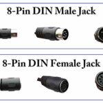 zdyCGTime Din adaptateur séparateur 8 broches 1mâle à 2femelle câble de haut-parleur audio Din d'extension de distributeur de contrôle de signal Système stéréo.(30 cm/1pi 8 broches)