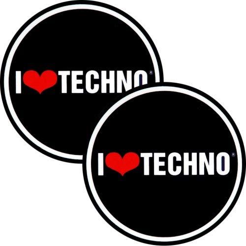 Disque de feutrine Factory I Love Techno Slipmat Lot de 2