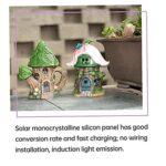 LjzlSxMF Solaire Ornement lumières LED Résine Maison Sculpture Champignon Jardin Maison Décoration d'éclairage (Teapot Arbre)