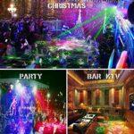 Lumières de fête DJ Disco Lumières, son activé et télécommande avec plusieurs motifs Effets de projecteur Lumières stroboscopiques de scène pour la fête d'anniversaire de mariage Karaoké KTV Bar