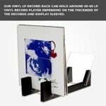 tellaLuna Rangement de disques vinyles – 34,4 cm de long – Supports de disques vinyles – Noir