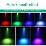 UKing 4 Pcs LED Par, RGB 36 Projecteur LED,Lampe de scène Projecteur à Effet avec Control,7CH DMX,Sound Control pour DJ Club Party Show