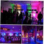 Yililay LED de scène, Lampe UV Noir par avec Son Activated Télécommande 12LED Light Purple Party Disco