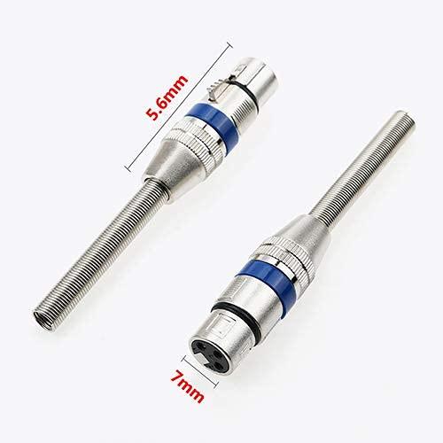 6.35mm Mono/XLR Mâle vers XLR Femelle Câble Adaptateur Audio Câble XLR 3PIN Mono Stéréo Haut-Parleur pour Microphone Mixer – (Longueur du câble: Autre, Couleur: Rouge)