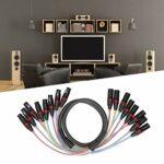 Câble Audio, YPX-08 Câble Audio XLR à Transmission Transparente de 1,5 m pour amplificateur de Puissance pour Table de mixage