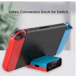 Commutateur TV Dock adaptateur de type C support de charge portable multi utilisation HD 1080P station Video Converter