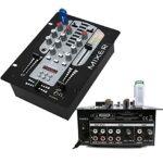 Contrôleur DJ USB/SD + SCRATCH – Caisson de Basses 800W Amplifié – 2 Enceintes 1400W Total – 1 Table de Mixage USB BLUETOOTH – Câble RCA – Câblage ENCEINTE – Câble PC