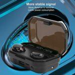 Écouteurs sans Fil TWS, écouteurs Bluetooth pour Le Sport, écouteurs Stéréo à Commande Tactile, avec Affichage Numérique à LED, Cabine à Induction Magnétique, Commande Tactile