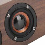 Gaeirt Haut-Parleur Bluetooth en Bois Haut-Parleur Bluetooth de Haute qualité avec Affichage de l'horloge LED
