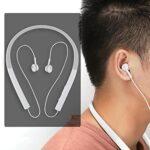 Limouyin Neck Hanging Headset, Aimant Intégré Bluetooth 5.0 Tour de Cou Casque sans Fil Écouteurs Rétractables Casque Stéréo Écouteurs Antibruit avec Puces de Faible Puissance pour Le Sport