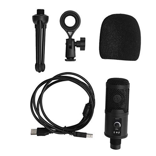 Microphone d'ordinateur, Interface USB à son clair 192KHZ/24Bit Microphone à condensateur, pour ordinateur pour les jeux