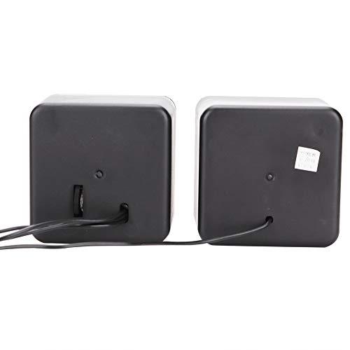 Seacanl Haut-Parleur de Bureau en Plastique stéréo Noir, Haut-Parleur, Ordinateur Jack 3,5 mm pour Ordinateur Portable(Dual Channel)