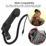 Surebuy Combiné téléphonique Haute sensibilité Large applicabilité Microphone d'épaule PTT, pour Haut-Parleur, pour Talkie-walkie, pour activité Militaire Chasse Jeux de tir