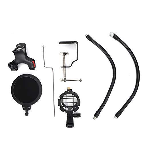 SUYANG Porte-Microphone Noir Professional 360 Degrés Réglable, Peut être Utilisé pour Le Chant Et L'enregistrement De Chat