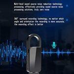 sZeao Enregistreur Numérique Enregistreur Portable d'espion Mini Enregistreur à Commande Vocale Réduction De Bruit Une Opération Clé avec pour Réunion/Cours(4Go),Noir,8GB