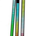 32 Peu Musique Niveau Indicateur Aluminium Bar Voix Sound Control Audio Spectre RVB Lumière LED Affichage Rythme Pulse Coloré Signal RGB Vocale Ramassage Rythme Léger pour Voiture