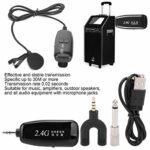 COHU Système de Microphone, Métal + Plastique Noir Microphone d'Enregistrement sans Fil, pour Stéréo Audio-visuel Amplificateurs Professionnels Amplificateurs Machines Vidéo