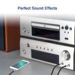 Gxfcyffs Audio Câble Jack 3,5mm vers Mono Double 6,35mm 1M, Nylon Tressé Noyau Cuivre Argenté Câble Double 1/4″ vers 1/8″ Y Splitter Compatible avec Amplificateur, Haut-parleurs, Ordinateur portable
