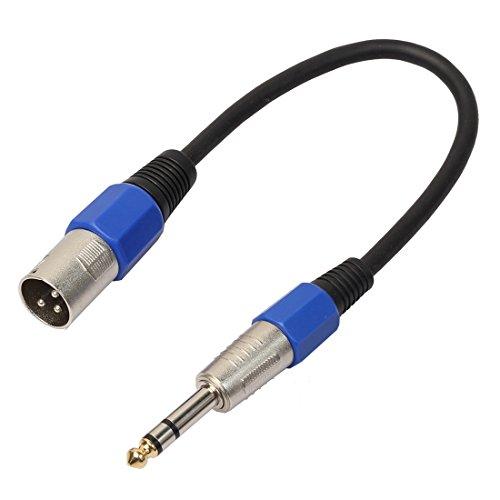 WUDENGM Câble audio mâle vers XLR femelle 30 cm XLR 3 broches mâle vers XLR femelle 6,35 mm