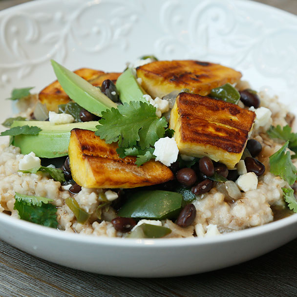 Cuban-Style Black Beans & Plantains over Oatmeal, National Oatmeal Month, Quaker Oats