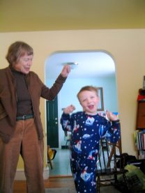 Dancing with Theo, Christmas 2009