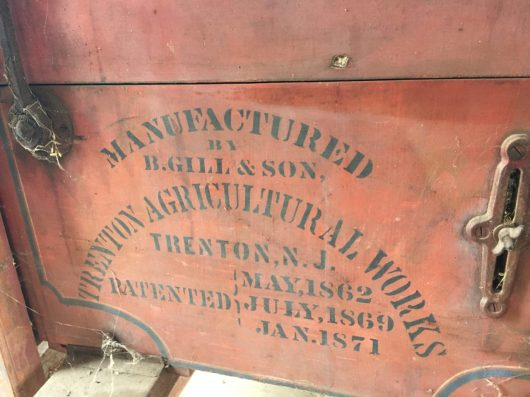 A horse- or steam-powered thresher had great lettering