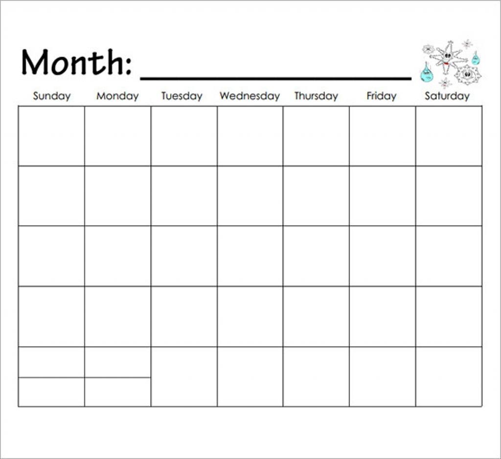 Printable Calendar For Kindergarten
