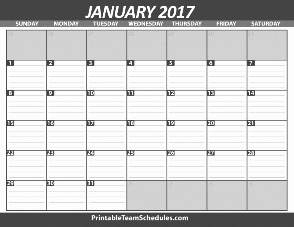 Free Printable Calendar With Lines To Write On New Free