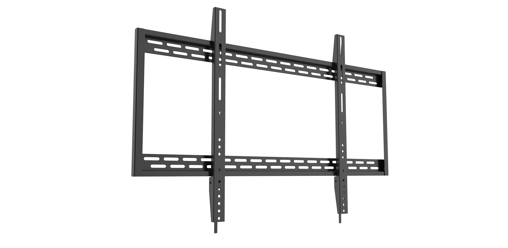 Qualgear Heavy Duty Fixed Tv Wall Mount For 60 100 Inch Flat Panel And Curved Tvs Black Qg Tm