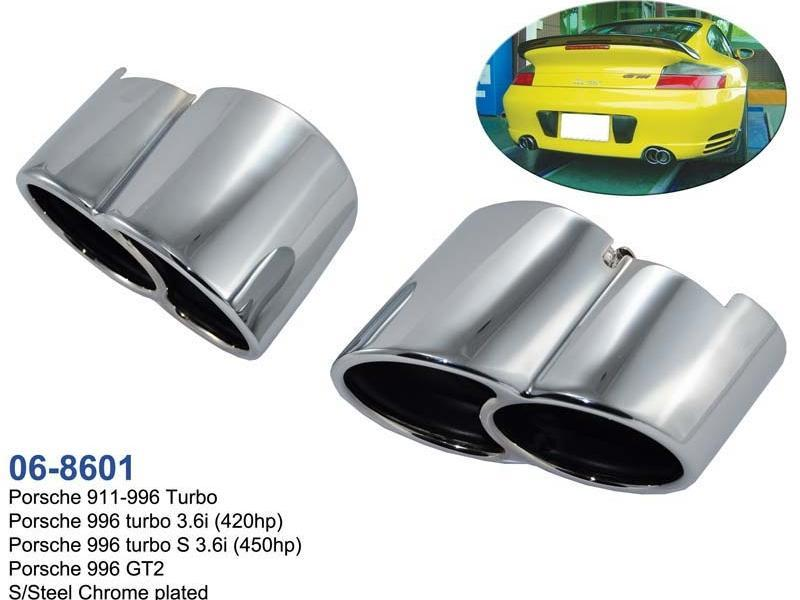 porsche 911 996 turbo auspuffblende endrohre
