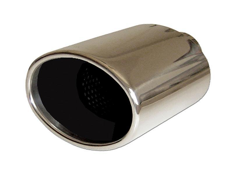 universal stainless steel exhaust tip oval 117x85 l178 in54