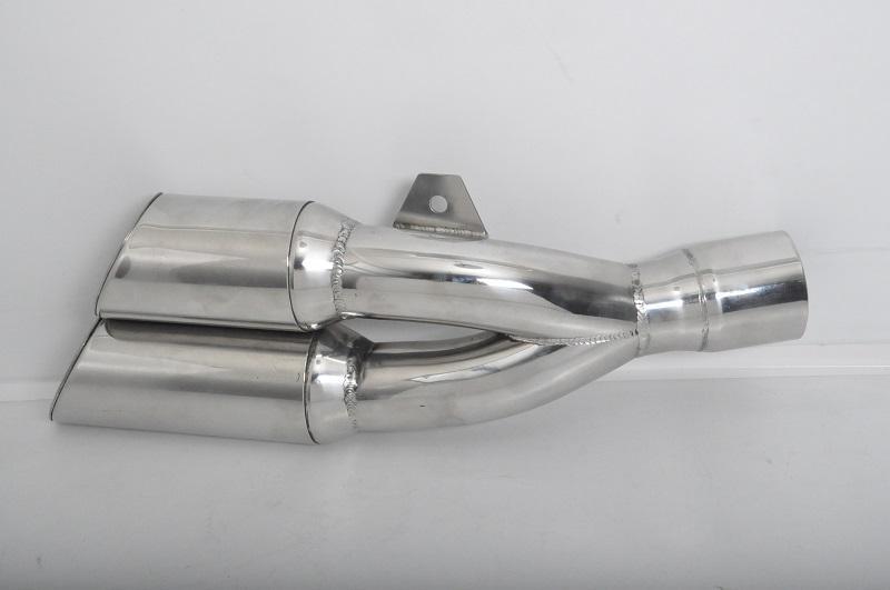 universal motorrad auspuff schalldampfer edelstahl doppel 2x64 l300 in50