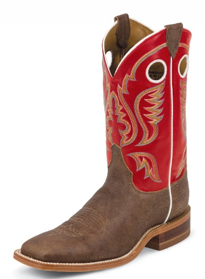 Justin BR310 Men s Bent Rail Western Boot with Old Map Cowhide Foot     Justin BR310 Men s Bent Rail Western Boot with Old Map Cowhide Foot and a  Double Stitched
