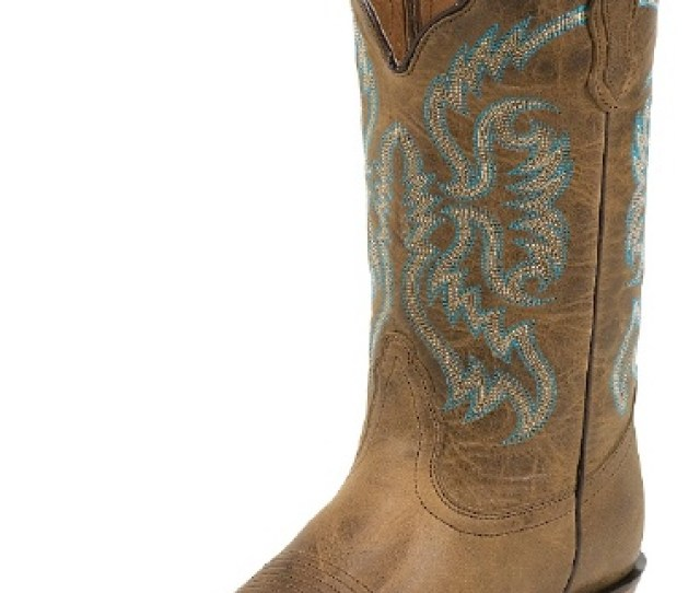 Nocona Nl Ladies Fashion Western Boot With Tan Old West Cow Foot And A Narrow Medium