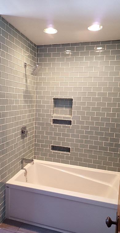 custom glass subway tile shower cuyahoga falls oh quality design renovations llc cleveland bathroom renovations walk in bath tubs bathtub to shower grab bars va approved quality design renovations