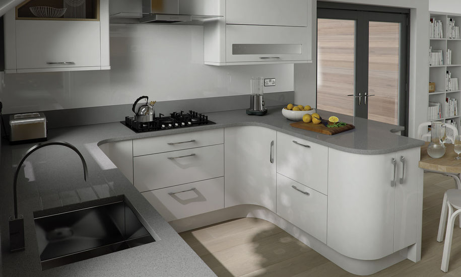Charmant Quality Kitchen Doors Nottingham White Finish