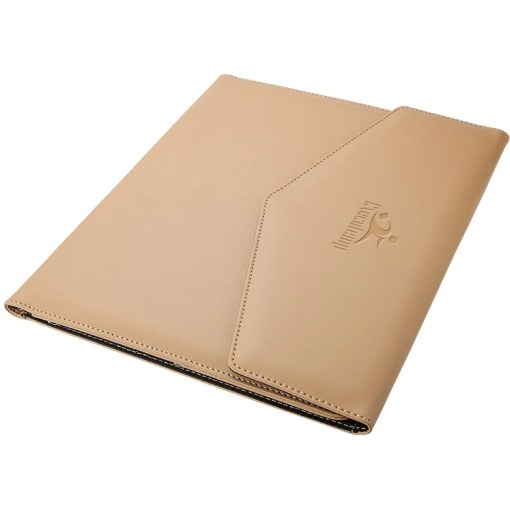 Promotional Letter Size Leatherette Folios with Custom Logo for     Khaki Letter Size Leatherette Folio Branded with Your Logo
