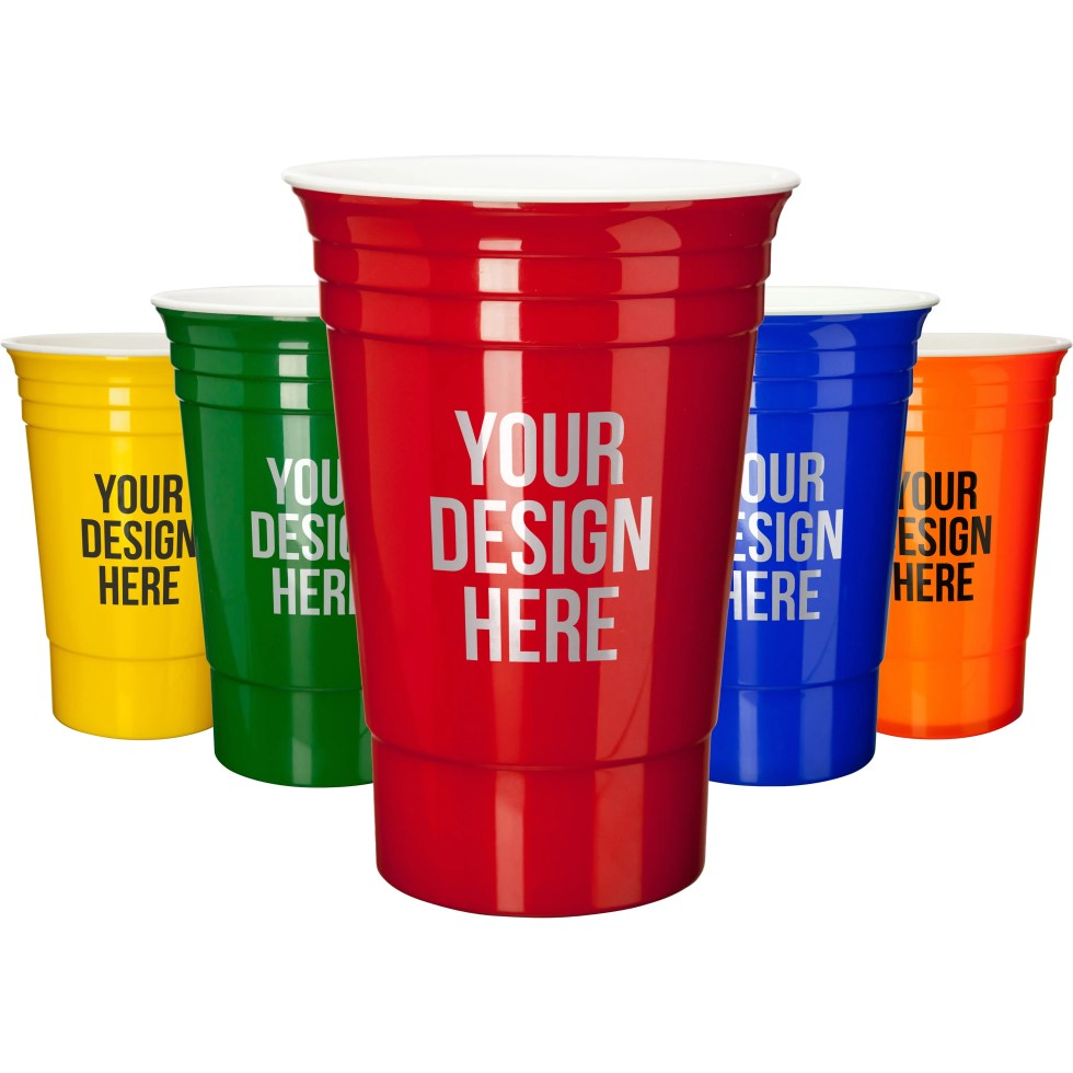 Promotional 16 Oz. Solo Cup Style Promotional Cups with ...